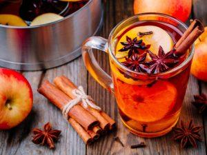 chá com frutas canela e aniz
