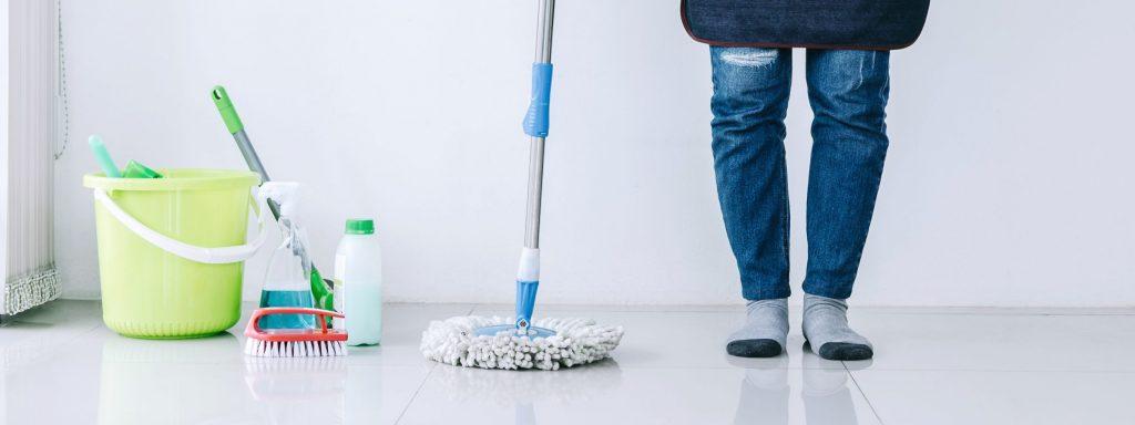 Limpa piso caseiro