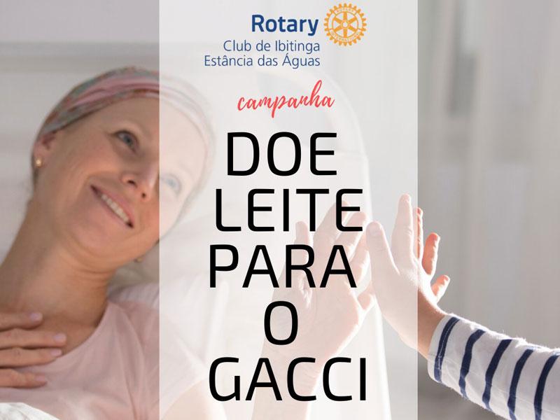 Campanha Rotary Doação de Leite para o GACCI