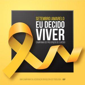 Setembro Amarelo prevenção contra o suicídio