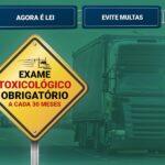 Nova Lei obriga Exame Toxicológico a cada 2 anos e 6 meses para motoristas profissionais